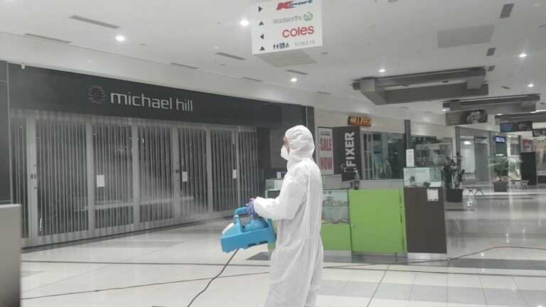 fogging a shopping centre
