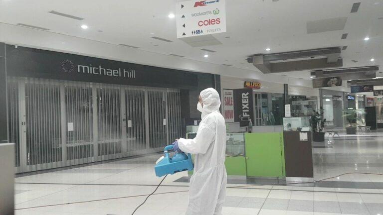 fogging a shopping centre