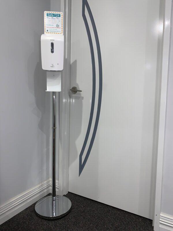 free standing hand sanitiser dispenser